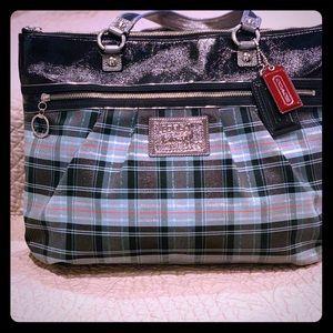 Plaid Coach Handbag EUC